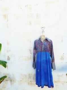 Upcycled Plus Size Boho Hippie Dress/Upcycled by Lucysroom on Etsy, $29.00