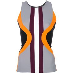 No Ka' Oi colour block sport vest (7.910 RUB) ❤ liked on Polyvore featuring outerwear, vests, black, vest waistcoat, sports vest, color block vest and sport vest