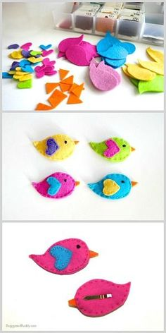 How to Make Felt Bird Hair Clips (Tutorial)~ BuggyandBuddy.com #HairClips