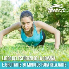 ¡Relájate con 30 minutos de ejercicio al día!