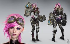 Vi - Official Concept Art, Paul Kwon on ArtStation at https://www.artstation.com/artwork/vi-official-concept-art