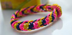 Friendship Jewelry Ideas- How to Weave a 4 Color Braid Bracelet Step by Step
