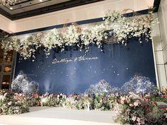 K.Bo & K.Lhek Reception Stage decoration package Wedding day : 26 August 2017 Decoraion : @fleurbyrainforest Contact : 081-809-5459 #fleur #fleurbyrainforest #flower #deepblue #blue #gold #blingbling #fresh #star #sky #decor #bride #thaiwedding #wedding #reception #plazaathenee #pimansiam #hall #light #bangkok #thailand #groom #photo #bridesmaids #draw #real #stage