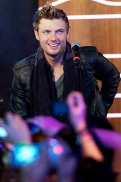 """Nick Carter of Backstreet Boys performs on stage to promote his new album """"In A World Like This"""" at the 40 Cafe on November 12, 2013 in Madr..."""