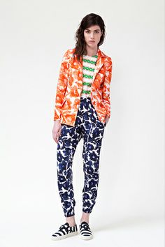 Mother Of Pearl Crepe Brushstroke Floral Rhea Trousers, $575, available at SSENSE.