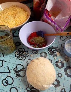Pepi's kitchen: Εύκολη Πίτσα Μαργαρίτα Pizza Tarts, Margarita, Cereal, Health Fitness, Cheese, Breakfast, Kitchen, Recipes, Food