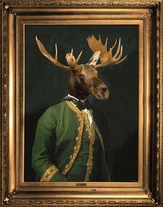 Lord Montague Ornate Framed Canvas Print - Mineheart - Eccentric British Design