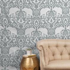Jacqueline Maldonado Elephant Damask Paloma Tapestry