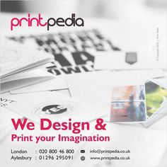 Printpedia specialises in customised design, branding and printing services in Aylesbury, Buckinghamshire and the rest of the UK. Logo Design Uk, Print Design, Graphic Design, Compliment Slip, Printing Services, Brighton, Compliments, Imagination, Branding