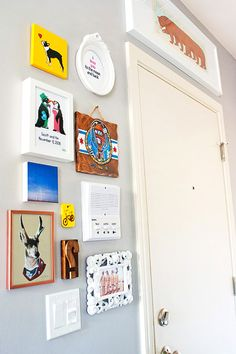 """Nice way to """"disguise"""" various utility panels/switch plates. Yes, I'm thinking of you, Mr."""