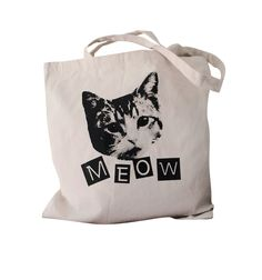 CAT MEOW Tote Bag - $12.00, via Etsy.