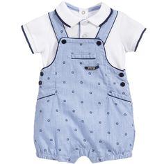 Baby Boys 2 Piece Polo Shirt & Dungarees Set, Mayoral, Boy