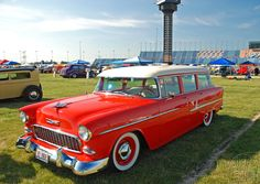 A 1955 Chevy Wagon to drool over! 1955 Chevy, 1955 Chevrolet, Chevrolet Bel Air, Station Wagon, Old Trucks, Chevy Trucks, Hot Rods, Vintage Cars, Antique Cars