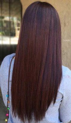 Chocolate Brown Hair Color - Sleek Mahogany