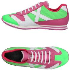 Munich Sneakers ($114) ❤ liked on Polyvore featuring shoes, sneakers, pink, flat shoes, pink sneakers, pink flat shoes, multi color shoes and pink shoes