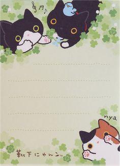 small memo pad from Japan with Kutusita Nyanko cats