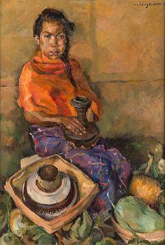 Willem Dooijewaard - Vrouw op de markt