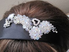 Handmade Headband Hair Vintage Jewelry Elle by LunasVintageDesigns #vogueteam