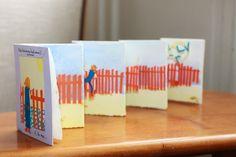 premier livre pop-up : 'Petit bonhomme haut comme 3 pommes à la mer' Atelier des 3 Oursons