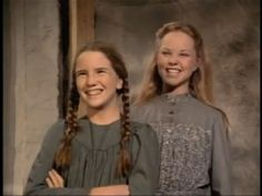 Laura Ingalls with her older sister Mary