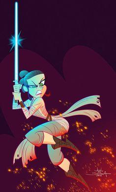 Rey - Star Wars VII by jfsouzatoons on DeviantArt