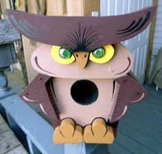 Handcrafted Wood Owl Birdhouse  3 by SomethingPrettyGifts on Etsy, $48.00