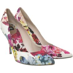 Pre-owned pumps with floral print (1.960.580 IDR) ❤ liked on Polyvore featuring shoes, pumps, heels, high heel shoes, floral shoes, pointy-toe pumps, pointed toe high heel pumps and heels & pumps