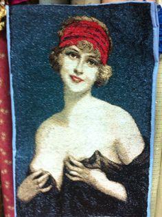 Дама в вуали вышивка фотостежок