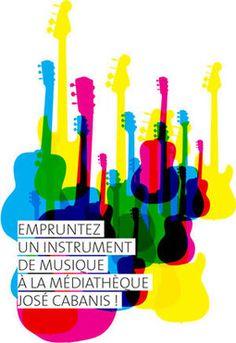 8 instruments de musique sont proposés au prêt.1 basse, 1 guitare classique, 1 guitareclassique 3/4 enfant, 1 guitare folk, 1 guitare électrique, 1 guitare électriq...