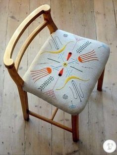 love / Tyrella Chair by Peter and Sally Nencini >> cute idea. embroidery and recover old chair Diy Furniture, Furniture Design, Wicker Furniture, Coaster Furniture, Home Design, Decoration, Home Remodeling, Interior And Exterior, Design Inspiration