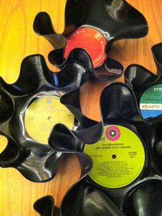 Decorella: Create your own record bowl.PARTY LIKE A ROCK STAR. Love this!