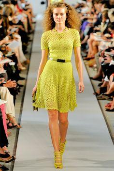 Irish crochet &: Платье. Оскар де ла Рента