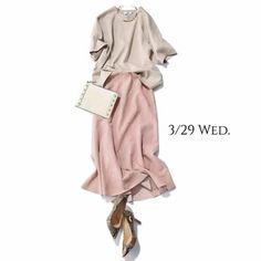 新年度はシンプルに清々しく!きれい色コーデできちんと感を重視!Marisol ONLINE|女っぷり上々!40代をもっとキレイに。