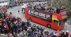 AFC Bournemouth celebrated their promotion to the Premier League with a victory open top bus parade along Bournemouth Seafront on Bank Holiday Monday, May Holiday Monday, Bank Holiday, Afc Bournemouth, Parade Route, Premier League, Victorious, Journey, History, Promotion