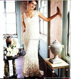 #crochet #wedding #Dress with pattern instructions in english.