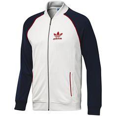 Men's Superstar Track Jacket, White Vapour / Dark Indigo