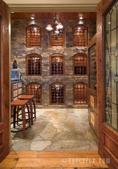 I don't think I will ever need a wine cellar, but I do want to do the flagstone floor in a half bath or the master bathroom floor. We did that in a home and it looked sweet.