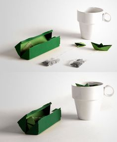origami boat tea