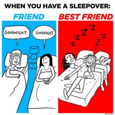 Best friend, funny, and best: when you have a sleepover: friend best friend goodnight eaeefos dan meth Best Friend Vs Friend, Love My Best Friend, Best Friends Funny, Best Friends For Life, Friend Memes, Best Friend Goals, Best Friend Quotes, Best Friends Forever, Best Friend Humor