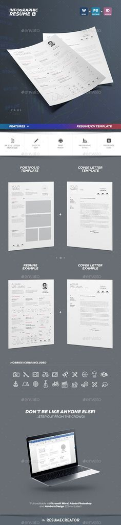 Infographic Resume Cv Template Vol8 by TheResumeCreator on - infographic resume creator