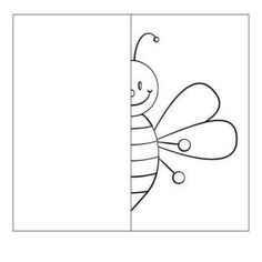 symmetry worksheets - Saferbrowser Yahoo Image Search Results a bee Symmetry Worksheets, Symmetry Activities, Bee Activities, Drawing Activities, Preschool Worksheets, Kindergarten Activities, Preschool Activities, Art Drawings For Kids, Drawing For Kids