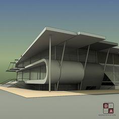 Торговый центр в п.Кольцово. Проектирование 2005г. | Студия Виталия Зотова