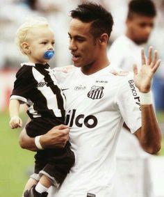 Aww neymar with his son david lucca da silva ❤❤