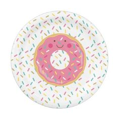 Donut Birthday Paper Plates  sc 1 st  Pinterest & Donut First Birthday Paper Plates - giftidea gift present idea one ...