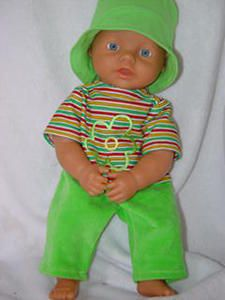 Baby Born clothes- outfit in green