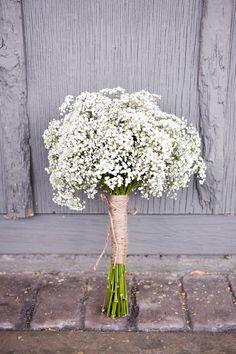 Babys-Breath-Bouquet- bridesmaids- simple. elegant.