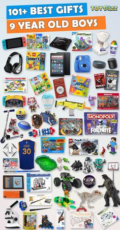 Browse our Birthday Gift Guide featuring 300 Best Gifts For Boys. Discover educational toys, unique kids gifts, kids games, kids books, and more for your 9 year old boy. Make his Birthday extra magical with these delightful picks hell love! Best Gifts For Boys, Unique Gifts For Kids, Kids Gifts, Toddler Boy Toys, Toys For Boys, Birthday Gifts For Boys, Boy Birthday, 9 Year Old Christmas Gifts, 8 Year Old Boy