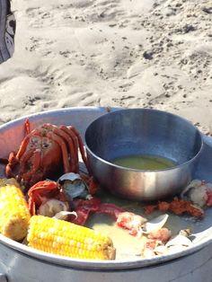 New England Lobster Clambake / Wingaersheek Beach, Live Maine Lobster, Fresh Lobster, Fresh Seafood, Seafood Delivery, Barefoot Beach, The Fresh, Paella, Summer Beach, New England