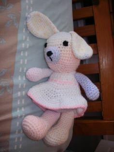 Rabbit using random yarns Yarns, Dinosaur Stuffed Animal, Rabbit, Toys, Random, Animals, Bunny, Activity Toys, Rabbits