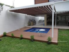 NewTechWood® is a pioneer in the development and manufacture of composite decking boards. We have earned a worldwide reputation for innovative wood plastic composite materials. Spa, Composite Decking, Composition, Pergola, Photos, Outdoor Structures, Patio, Places, Mexico